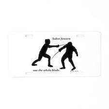 Sabre Blade Aluminum License Plate