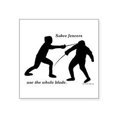Sabre Blade Square Sticker 3