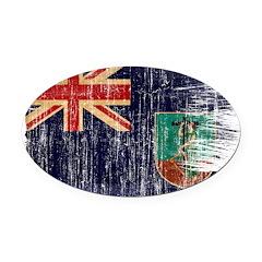 Montserrat Flag Oval Car Magnet