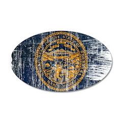 Nebraska Flag 38.5 x 24.5 Oval Wall Peel
