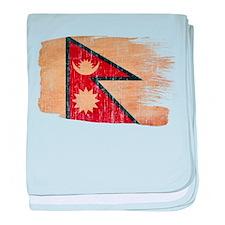 Nepal Flag baby blanket