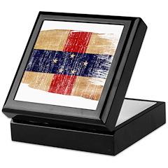 Netherlands Antilles Flag Keepsake Box