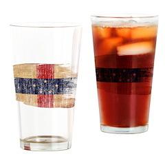 Netherlands Antilles Flag Drinking Glass