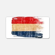 Netherlands Flag Aluminum License Plate