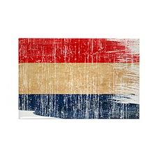 Netherlands Flag Rectangle Magnet