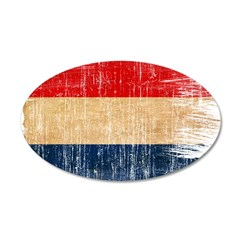 Netherlands Flag 38.5 x 24.5 Oval Wall Peel