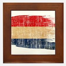 Netherlands Flag Framed Tile