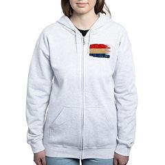 Netherlands Flag Zip Hoodie
