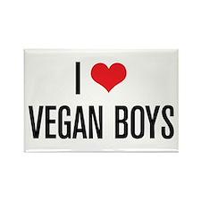 I Love Vegan Boys Rectangle Magnet