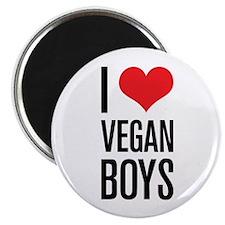 """I Love Vegan Boys 2.25"""" Magnet (100 pack)"""