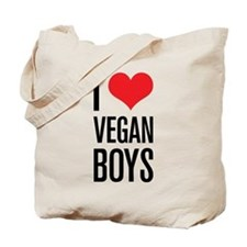 I Love Vegan Boys Tote Bag