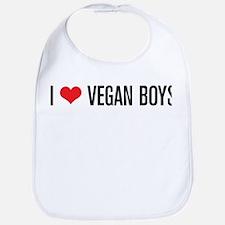 I Love Vegan Boys Bib