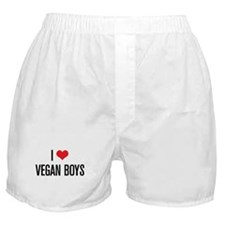 I Love Vegan Boys Boxer Shorts