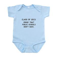2013 Public Schools Black.png Infant Bodysuit