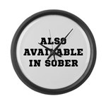 Also In Sober Black.png Large Wall Clock