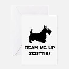 Beam Me Up Scottie Black.png Greeting Card