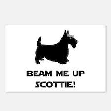 Beam Me Up Scottie Black.png Postcards (Package of