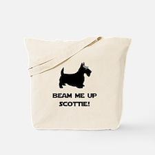 Beam Me Up Scottie Black.png Tote Bag