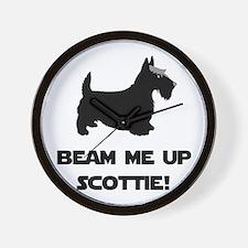 Beam Me Up Scottie Black.png Wall Clock