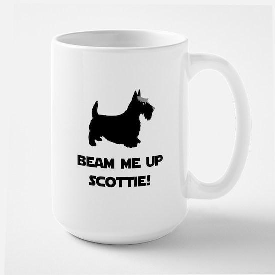 Beam Me Up Scottie Black.png Large Mug
