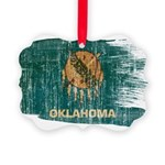 Oklahoma Flag Picture Ornament