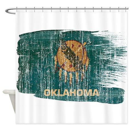 Oklahoma Flag Shower Curtain By Fadedpaintflags