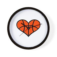 Basketball heart Wall Clock