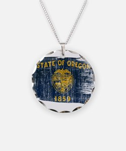 Oregon Flag Necklace