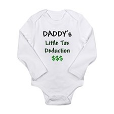 Daddy's Little Tax Deduction Black $$$ Body Suit