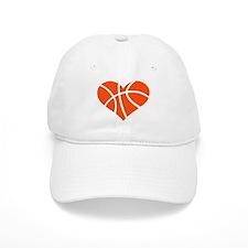Basketball heart Baseball Cap