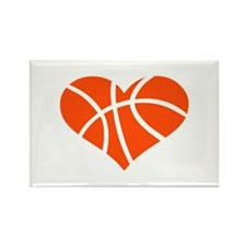 Basketball heart Rectangle Magnet
