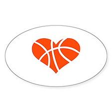 Basketball heart Decal