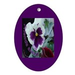 Pansies, Friends Always Oval Ornament