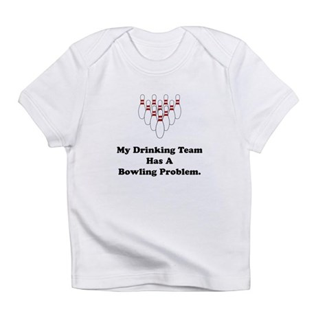 Bowling Drinking Black.png Infant T-Shirt