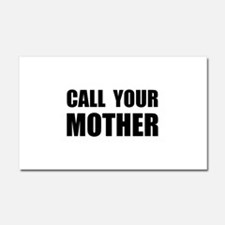 Call Your Mother Black.png Car Magnet 20 x 12