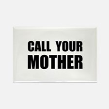 Call Your Mother Black.png Rectangle Magnet (100 p