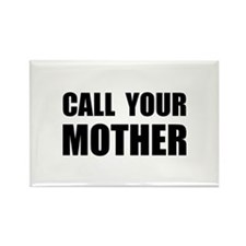Call Your Mother Black.png Rectangle Magnet (10 pa