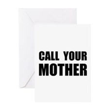 Call Your Mother Black.png Greeting Card