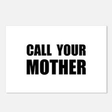 Call Your Mother Black.png Postcards (Package of 8