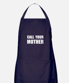 Call Your Mother Black.png Apron (dark)