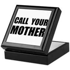 Call Your Mother Black.png Keepsake Box