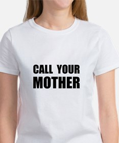 Call Your Mother Black.png Women's T-Shirt