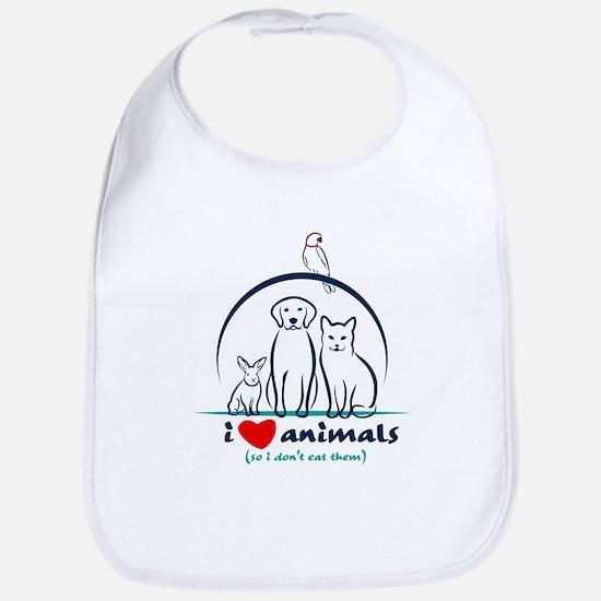 i love animals so i don't eat them Baby Bib