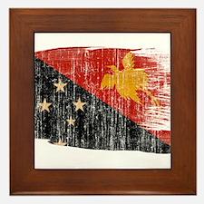 Papua new Guinea Flag Framed Tile