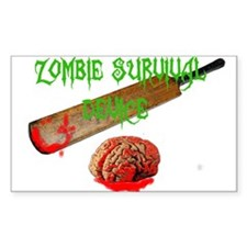 zombie survival device Stickers