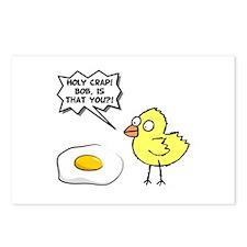 Chick Egg Black.png Postcards (Package of 8)