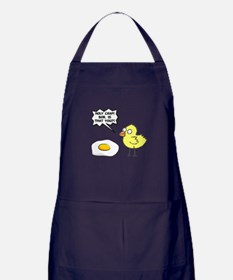 Chick Egg Black.png Apron (dark)