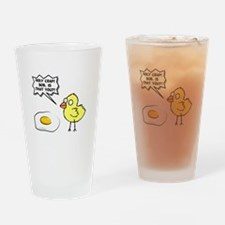 Chick Egg Black.png Drinking Glass