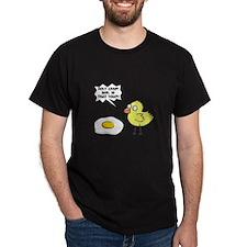 Chick Egg Black.png T-Shirt