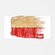 Poland Flag Aluminum License Plate